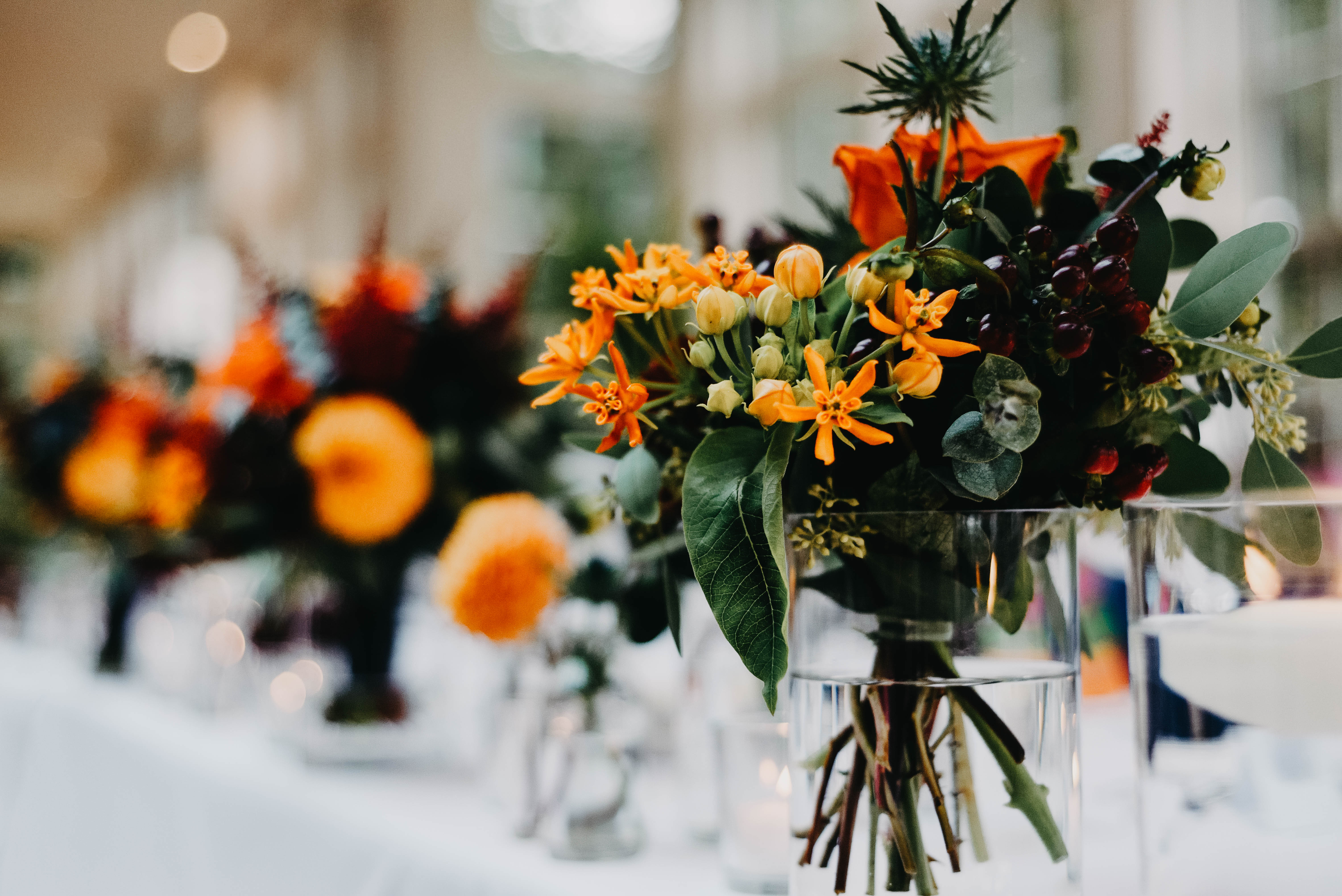 autumn wedding table centerpieces